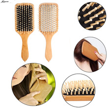 1pcs Wood Massage Comb Hair Care Paddle Brush Antistatic Combanti-static Natural Hairbrush Comb Scalp Wooden Massage