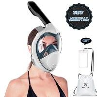 Full Face Snorkeling Masks Panoramic View Anti fog Anti Leak Swimming Snorkel Scuba Underwater Diving Mask GoPro Compatible