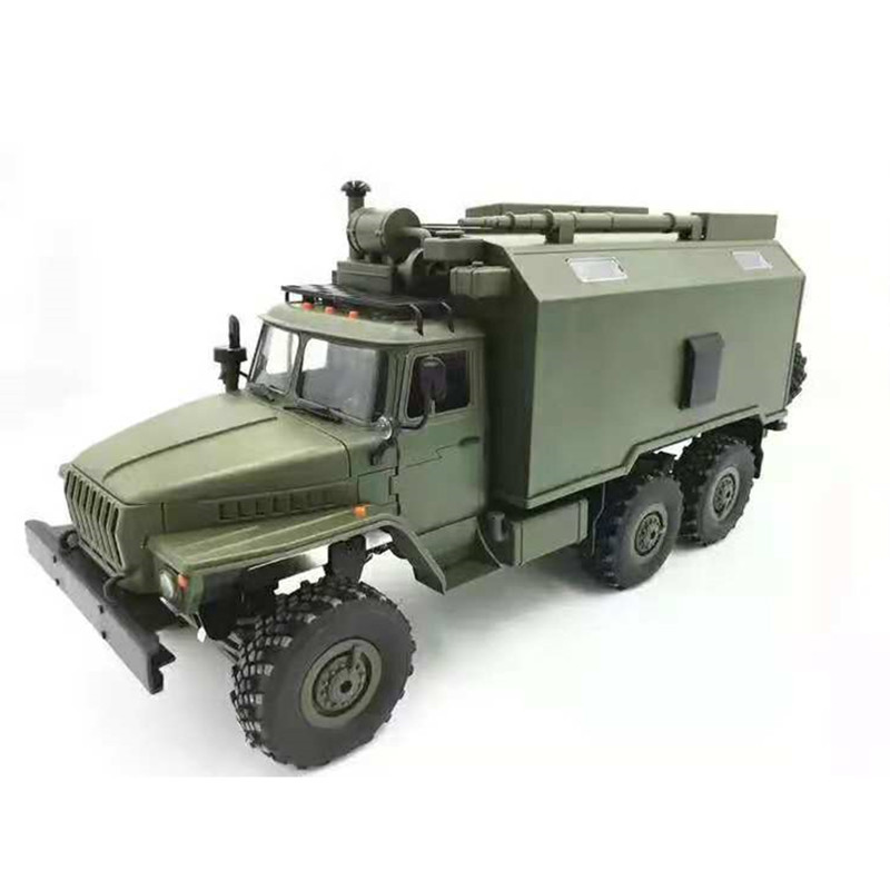 B36 Ural 1/16 2.4G 6WD RC Car Military Truck Rock Crawler Command Communication Vehicle RTR Toy Auto Army Trucks for BOYS GiftB36 Ural 1/16 2.4G 6WD RC Car Military Truck Rock Crawler Command Communication Vehicle RTR Toy Auto Army Trucks for BOYS Gift