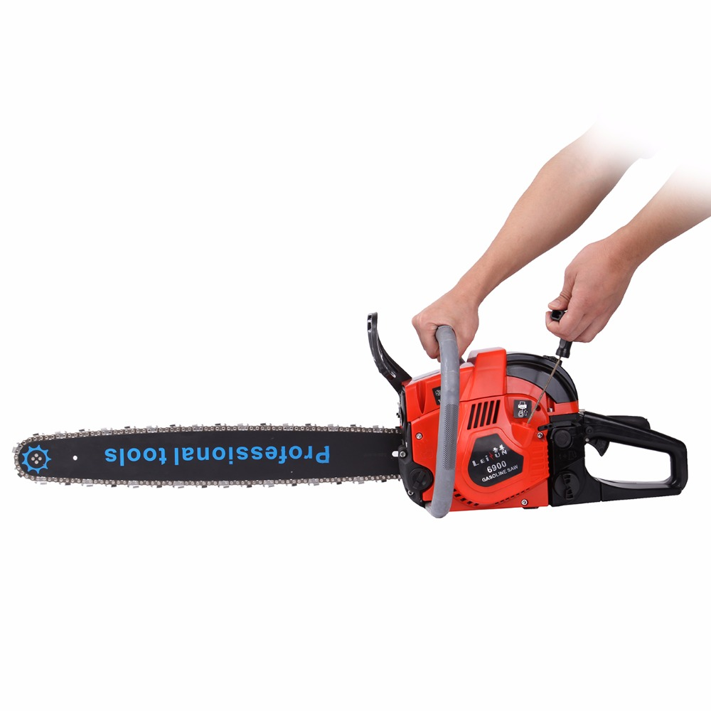 (Ship from USA) 52cc Gas Powered Chainsaw Wood Cutting Chain Saw Aluminum Crankcase Heavy Duty 22 Blade Chainsaw wood cutter chain saw heavy duty gasoline chainsaw 2 stroke 58cc gas chain saw 3000rpm max 10000 rpm eu plug for garden tool
