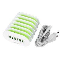 Быстрый Зарядное устройство тонкой Буле F-C206 6 Порты USB европейским нормам Зарядное устройство для планшетный ПК, сотовый телефон