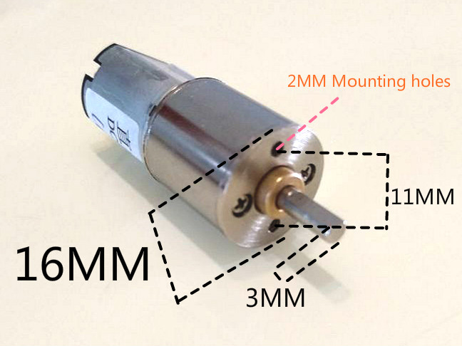 Free shipping Short axis 16GA (030) 60RPM New 6V DC geared motor with high torque zndiy bry 16ga 120 dc 12v 120rpm geared motor silver