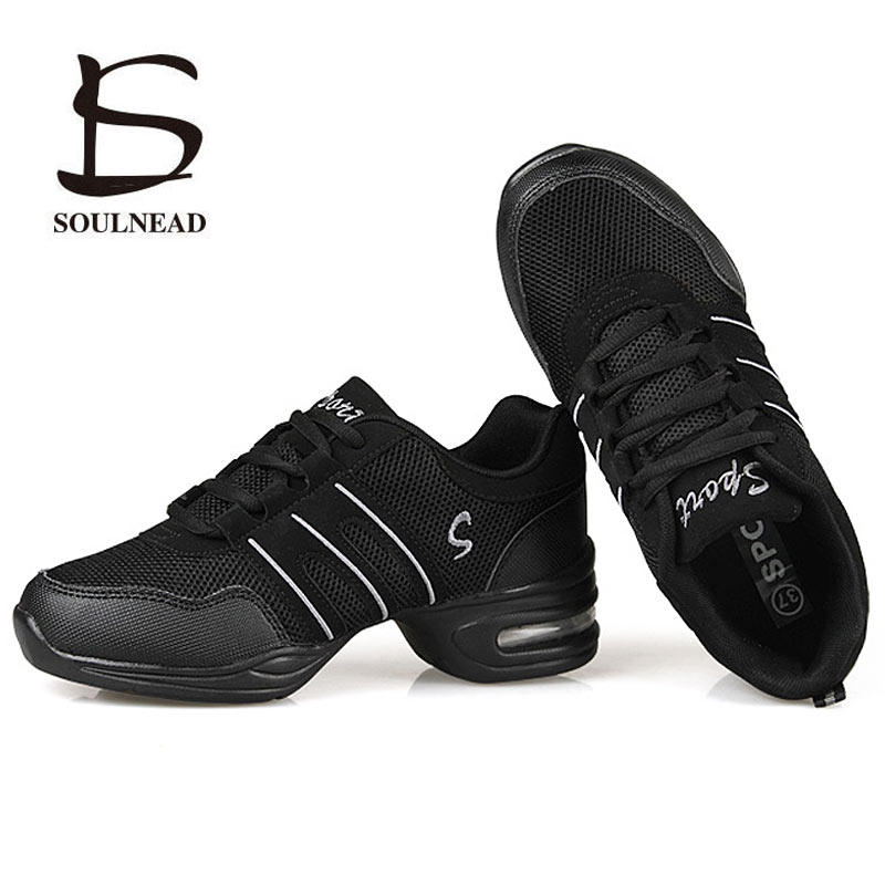 Dancing Shoes For Women Sports Feature Modern Dance Jazz Shoes Soft Outsole Breath Dance Shoes Female Practice Sneakers EU 34-42(China)