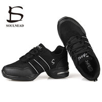 Dancing Shoes For Women Sports Feature Modern Dance Jazz Shoes Soft Outsole Breath Dance Shoes Female Practice Sneakers EU 34-42