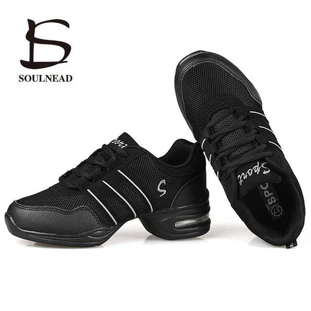 נעלי ריקוד לנשים ספורט תכונה מודרני ריקוד ג 'אז נעליים רך Outsole נשימה ריקוד נעלי עיסוק נשי סניקרס האיחוד האירופי 34 -42