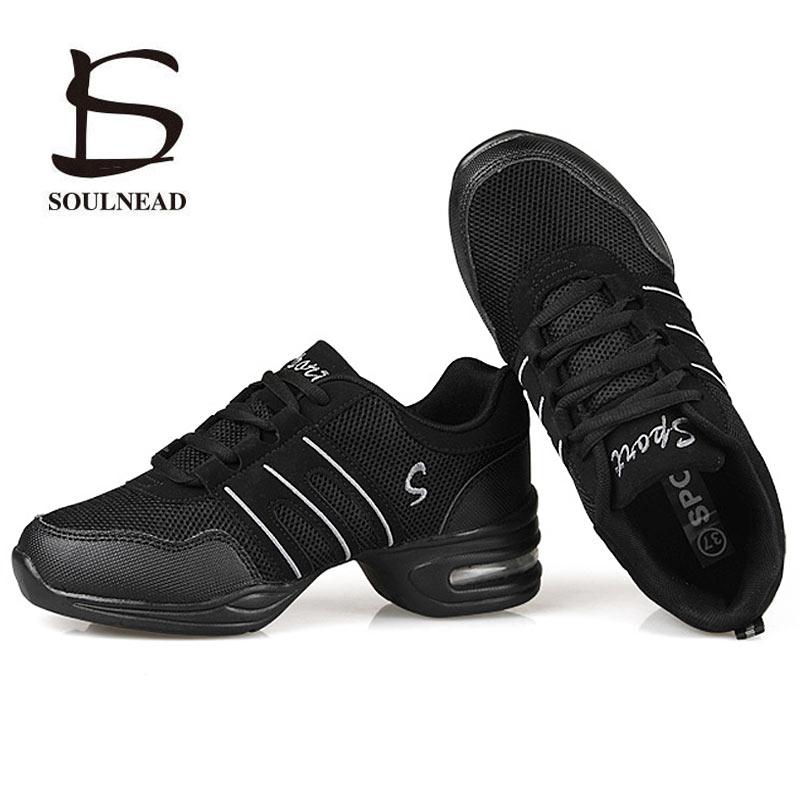 Zapatos de baile para mujeres características Deportivas Zapatos de baile moderno Jazz suela suave zapatos de baile de respiración zapatillas de vals femeninas tamaño 28-44