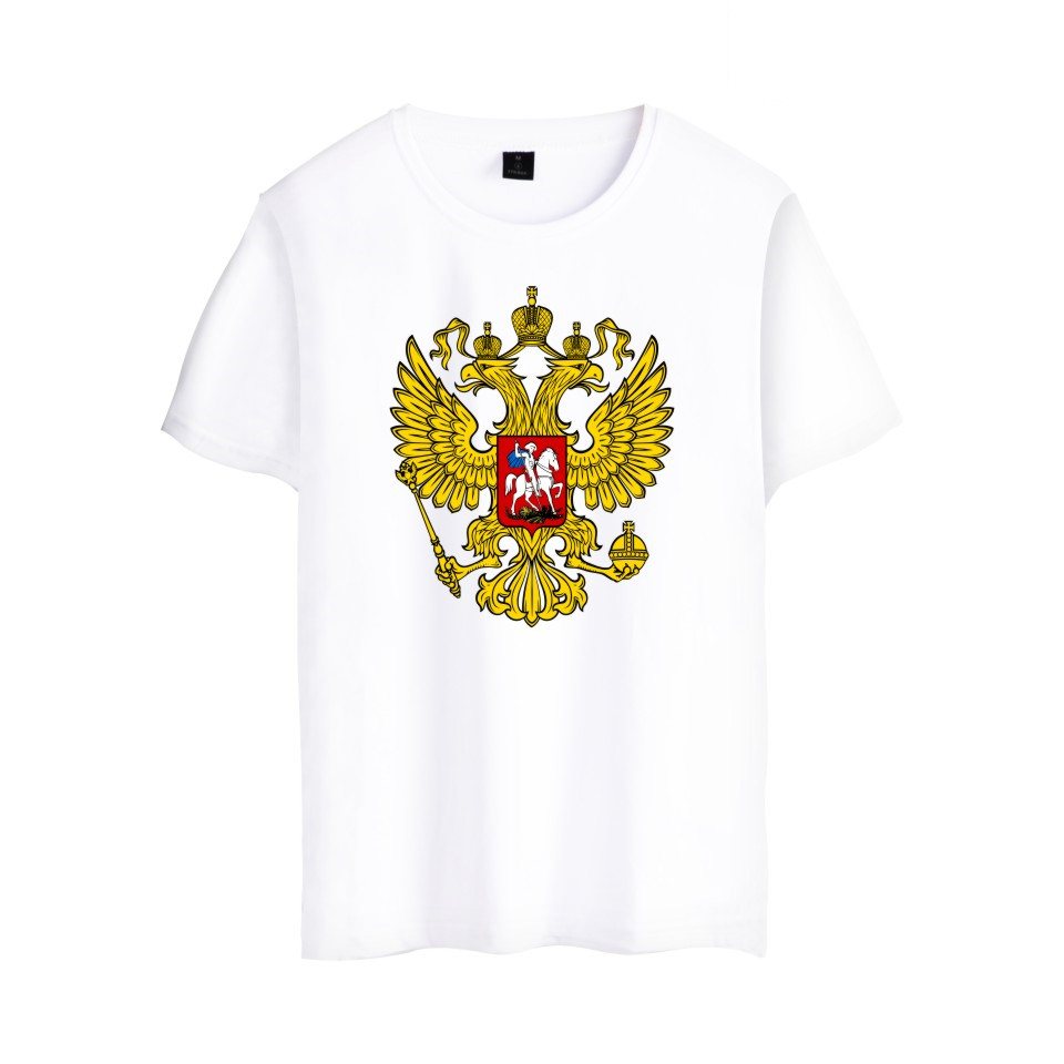 Russia Is Our Power T Shirt Men Women Brand Summer Clothing Double-headed Eagle T-shirt Russia Style Cotton Short Sleeve Tees