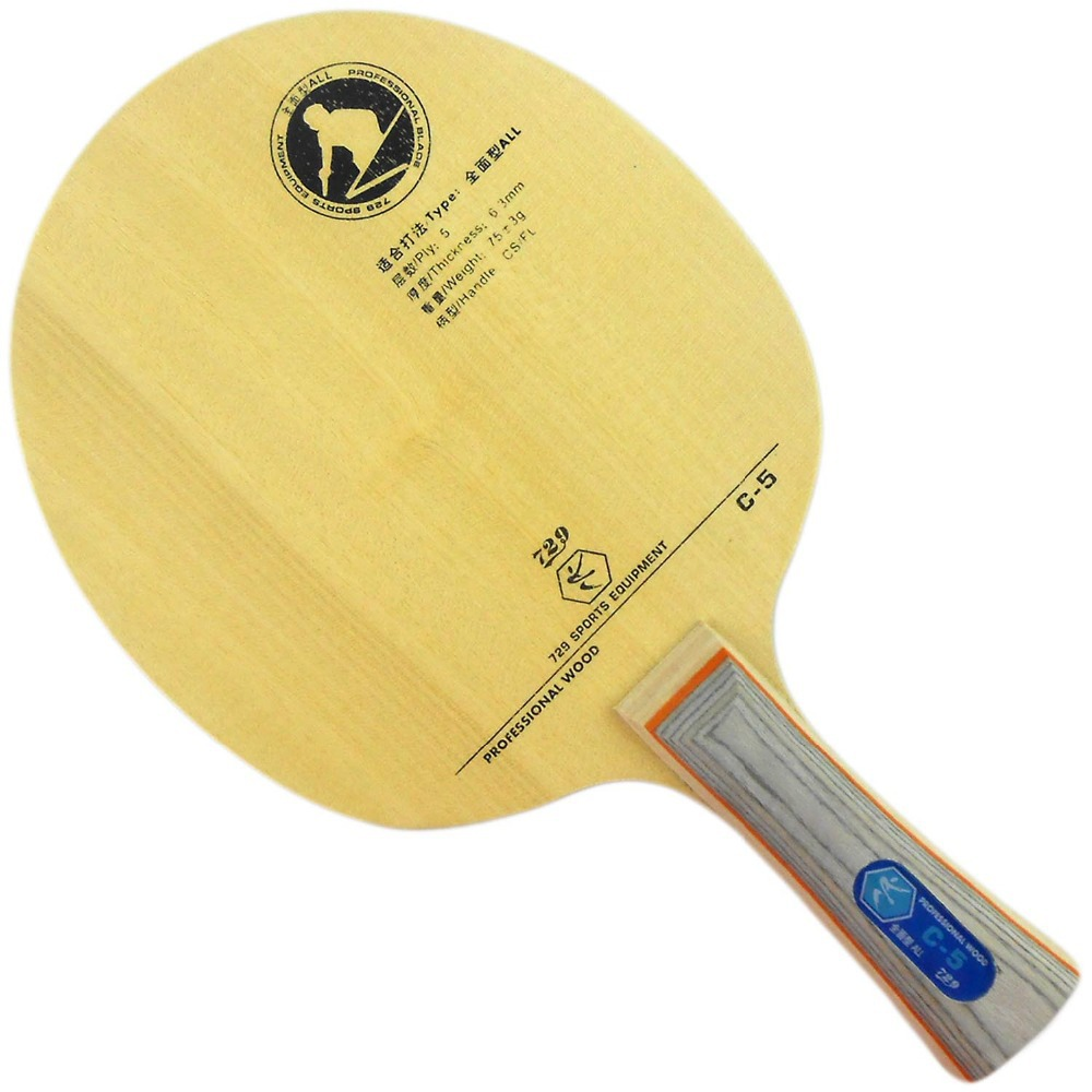 RITC <font><b>729</b></font> Friendship C-5 ( C5 , C 5 ) Table Tennis Racket blade new ping pong image