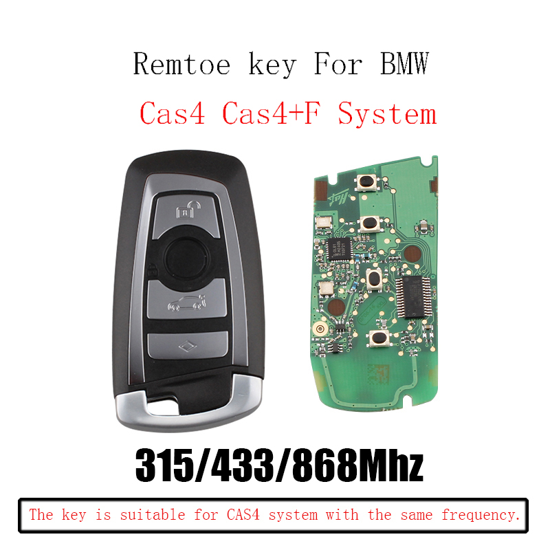 315/433/868Mhz Smart Remote Key Keyless Fob For BMW F CAS4 3 5 7 Series F01 F02 F03 F04 F11 F07 F10 F30 KR55WK49863 CAS4 System315/433/868Mhz Smart Remote Key Keyless Fob For BMW F CAS4 3 5 7 Series F01 F02 F03 F04 F11 F07 F10 F30 KR55WK49863 CAS4 System