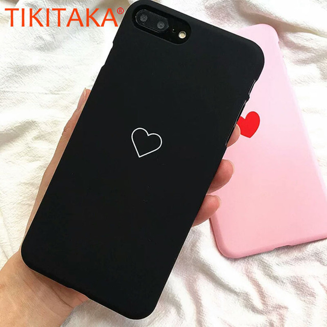 Cute Simple LOVE Heart Pattern Phone Cases For iphone 8 7