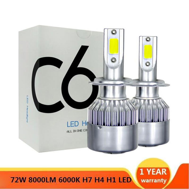 2x H7 LED H11 H4 Hi/Lo H1 H3 H8 HB1 HB3 HB4 HB5 H10 HIR2 H13 H16 H27 Car Headlight Bulbs 3000K 4300K 6000K 8000K Ice Blue COB