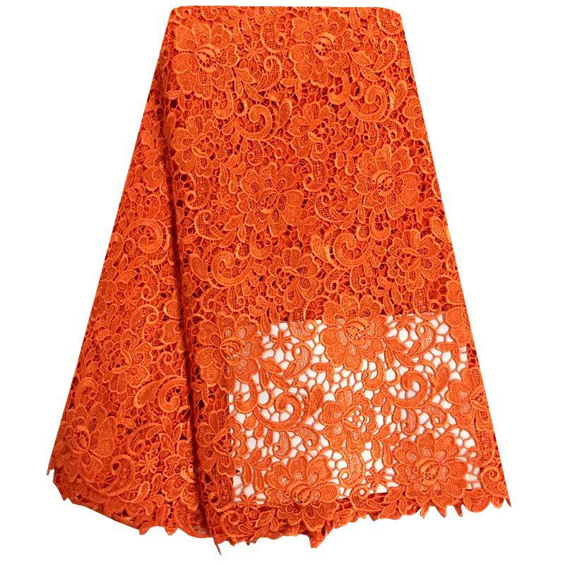 Hoge Kwaliteit Nigeriaanse Kant Stoffen Oranje Afrikaanse Franse Netto Kant Stof Geborduurde Tule Mesh Kant Stof Voor Bruiloft F8866-in Kant van Huis & Tuin op  Groep 1