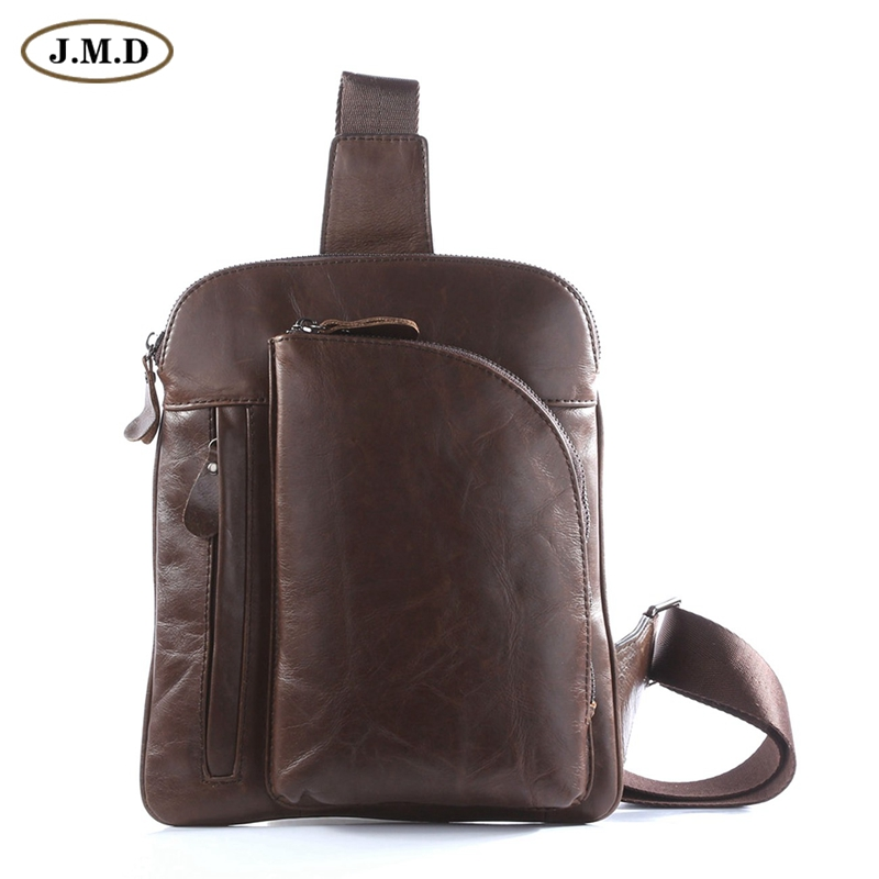 ФОТО 100% Genuine Leather Men's Chest Bags Popular Shoulder Bag Man 7194C