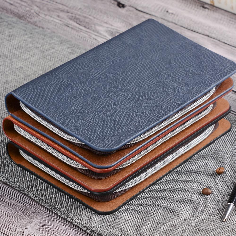 A5 25K PU Leather Travel Journal Agenda Planner With Zipper Diary Binder Agendas Notebook Organizer Creative Writingbook 1295
