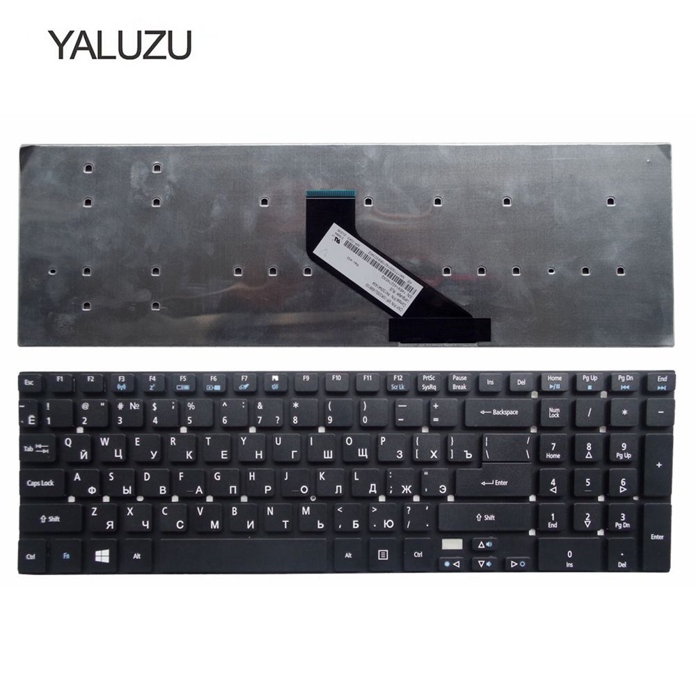 YALUZU NEW Keyboard For ACER For Aspire V3 V3-571g V3-551 V3-771G 5755 5755g V5WE2 RUSSIAN Laptop Keyboard BLACK Without Frame