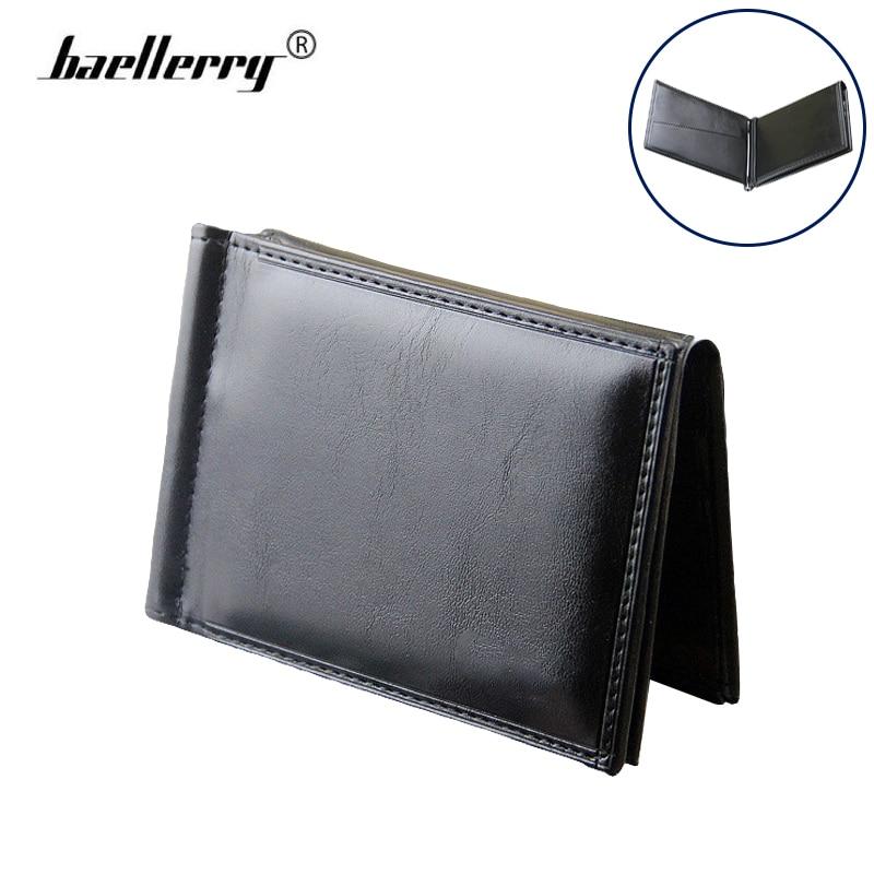 Férfi pénztárca bőr vékony Billfold pénz klipek férfi karcsú - Pénztárcák