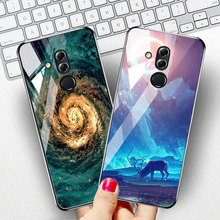 Tempered Glass Case For Huawei Mate 20 10 Lite Mate 20 Pro Cases Star Space Covers Coque For Huawei Mate 10 Lite Nova 2i Cover g case slim premium чехол для huawei mate 10 lite nova 2i black