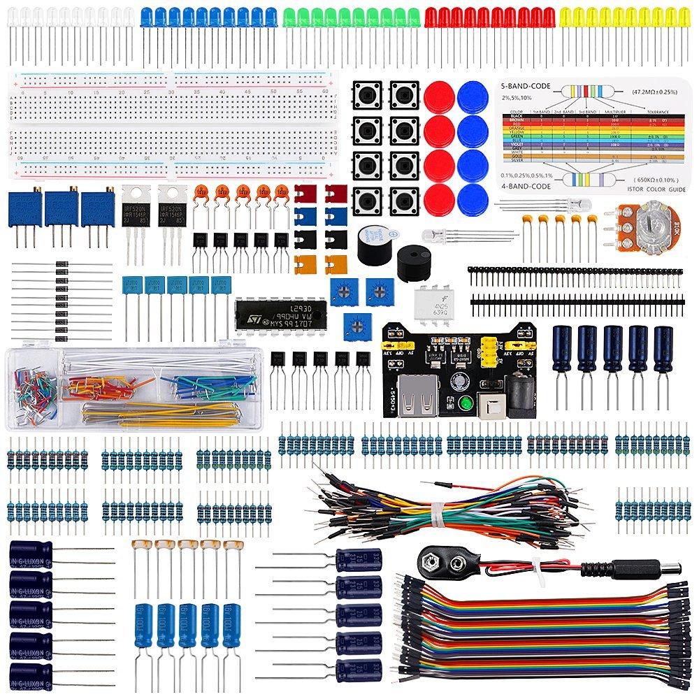 Pour Raspberry pi Arduino UNO Projet Super Starter Kit Alimentation Module Compatible UNO R3 pro mini Atmega due Mega Nano Robot