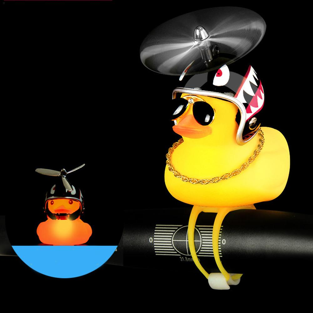 Toy Light Bike-Horn Duck-Helmet Funy-Accessories Bicycle Yellow Cartoon Call-Ring Handbar