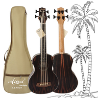 Aiersi Brand High Grade Professional 30 Inch Electric Fretless U bass Ukulele With padding bag