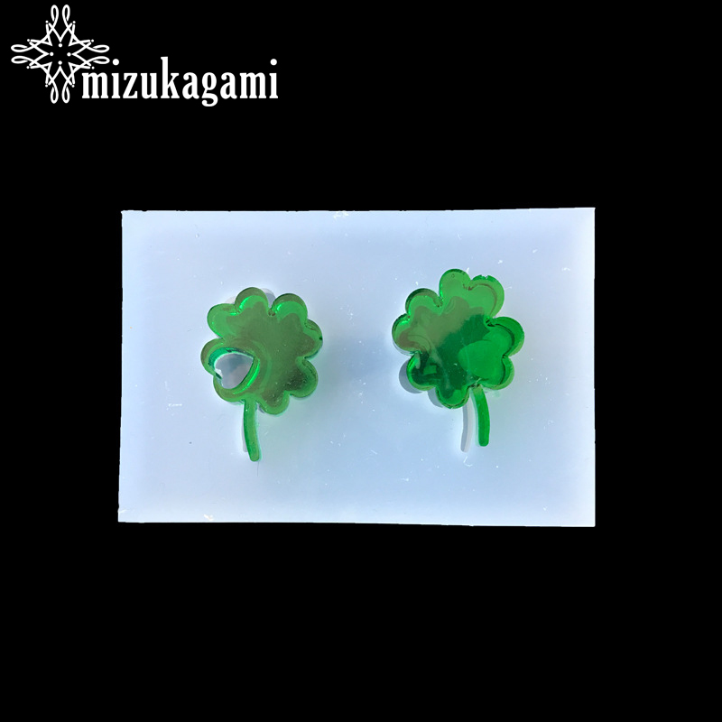 1pcs UV Resin Jewelry Liquid Silicone Mold Small Clover Resin Charms Pendant Molds For DIY Intersperse Decorate Making Jewelry