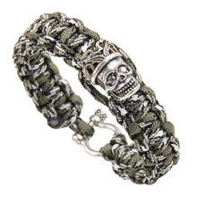 Мужской браслет с черепом паракорд веревка чиань приманка браслеты