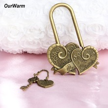 OurWarm Wedding Lock Love for Bridges Gifts Guests Ceremony Decoration Valentines Day Present Concentric