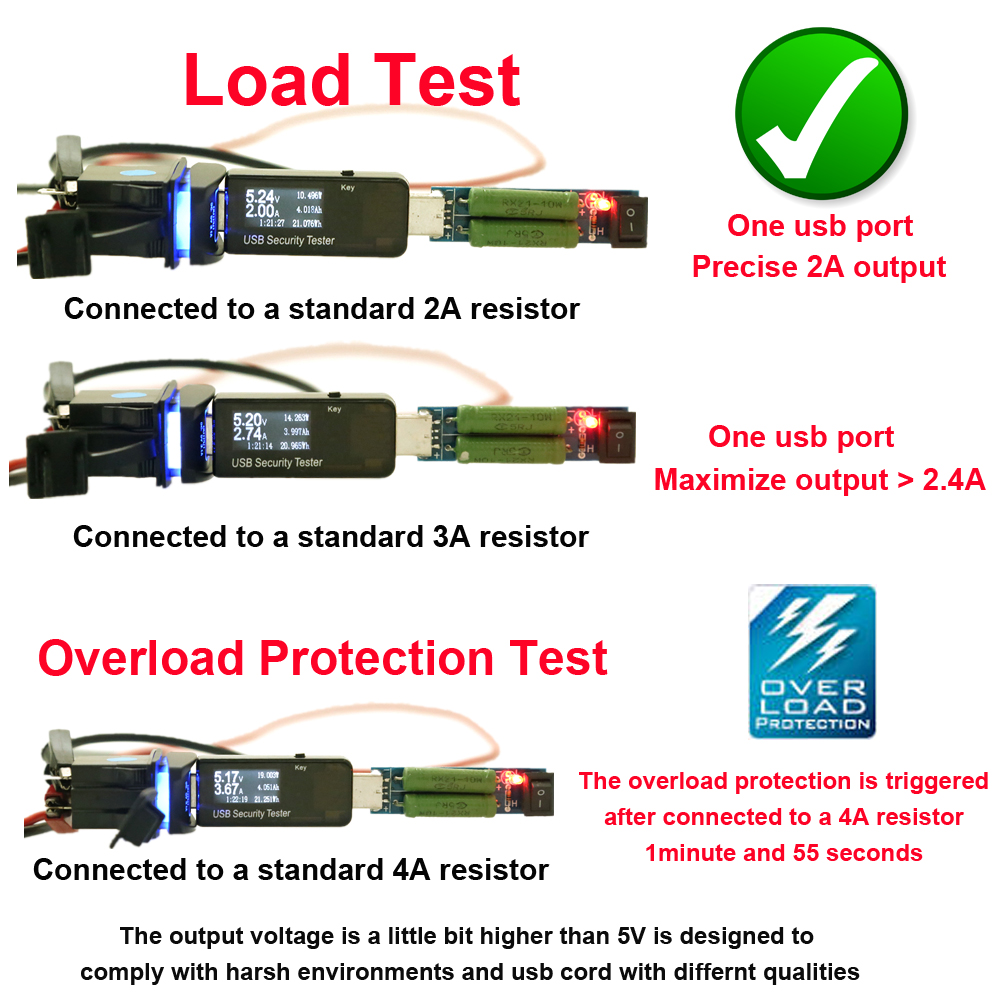 Universal Tahan Air Charger Mobil Dual Port Auto Adaptor Outlet DC 12 - Aksesori dan suku cadang ponsel - Foto 5