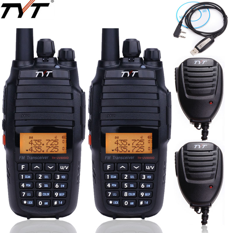2 Pcs TYT TH UV8000D Walkie Talkie Cross   band VHF UHF Dual Band 10 W High Power 3600 mAh 10 km ยาวแบบพกพา CB วิทยุ-ใน วิทยุสื่อสาร จาก โทรศัพท์มือถือและการสื่อสารระยะไกล บน AliExpress - 11.11_สิบเอ็ด สิบเอ็ดวันคนโสด 1