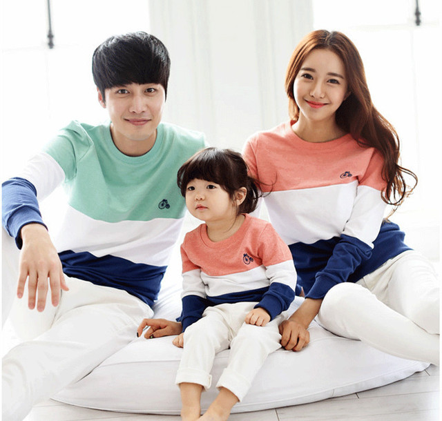 Spring Autumn Family Clothing Clothes Mother Daughter Outfits Long-sleeve T-shirt Sweatshirt Christmas Pajamas AF-1759