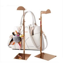 wholesale Silver metal female mannequin for handbag shoe display Adjustable height thick base stainless steel rack 1pc C206
