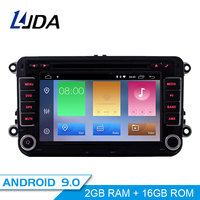 LJDA 2 Din Android 9.0 Car Radio For Skoda Seat Volkswagen VW Passat b7 POLO GOLF 5 Car Multimedia Stereo Auto Audio GPS DVD IPS