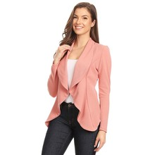 Autumn Long Sleeve women blazers and jackets Ruched Fashion Casual Business Suit Outwear 2019 Women Solid Blazers Cardigan Coat