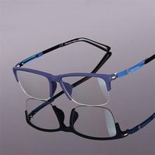 Модные дизайнерские очки TR90, оправа для полуочков, Ультралегкая близорукость, для мужчин и женщин, Ретро стиль, оправа для глаз, очки по рецепту, 916