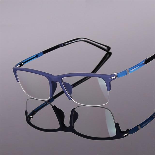 d6b227262c2 Designer glasses Fashion TR90 Half glasses frame ultralight myopia men and women  retro eye box frames prescription glasses 916