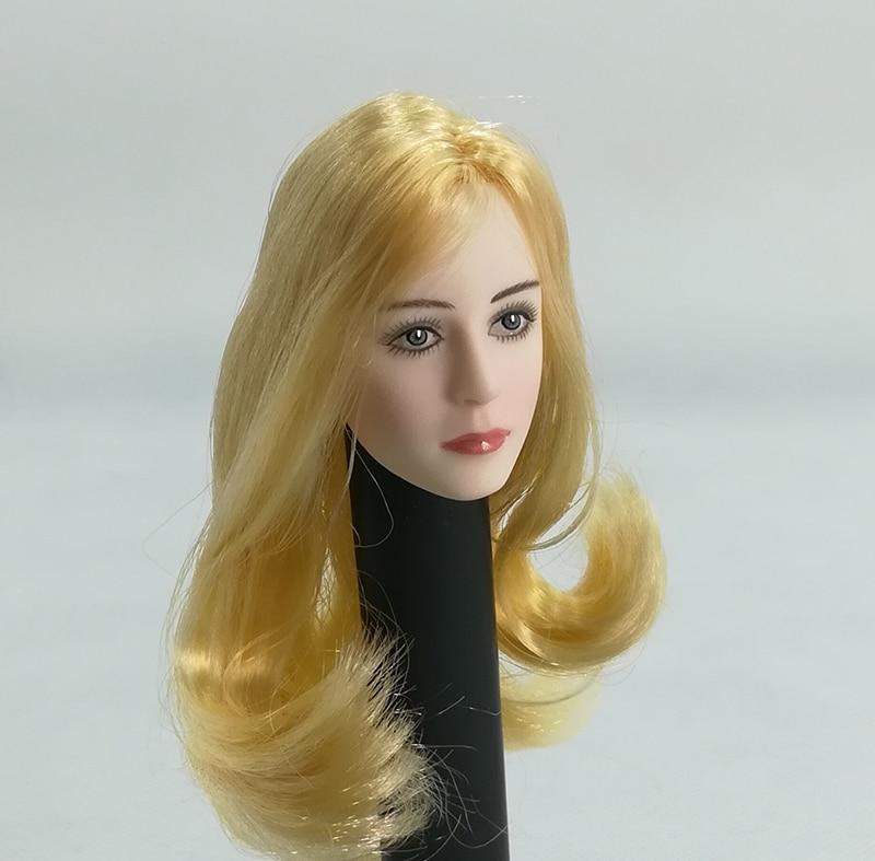 "1//6 Scale European American Female Head Sculpt Model 4 Styles F 12/"" PH HT Doll"