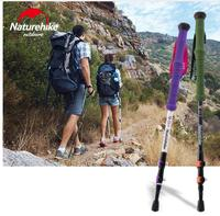 Naturehike Carbon Fiber Walking Stick Trekking Poles Alpenstock Hiking Cane Ultralight Adjustable 1PCS 3 Section His-and-Hers