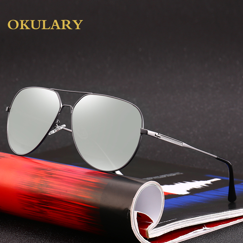 Oversized Metal Frame Men Polarized Sunglasses UV400 Driving Glasses For Men Come With Box