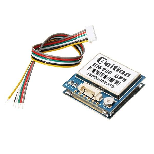 Módulo UART nível TTL GPS GLONASS Dual GNSS M8030 NEO-M8N solução módulo GPS com antena FLASH BN-280
