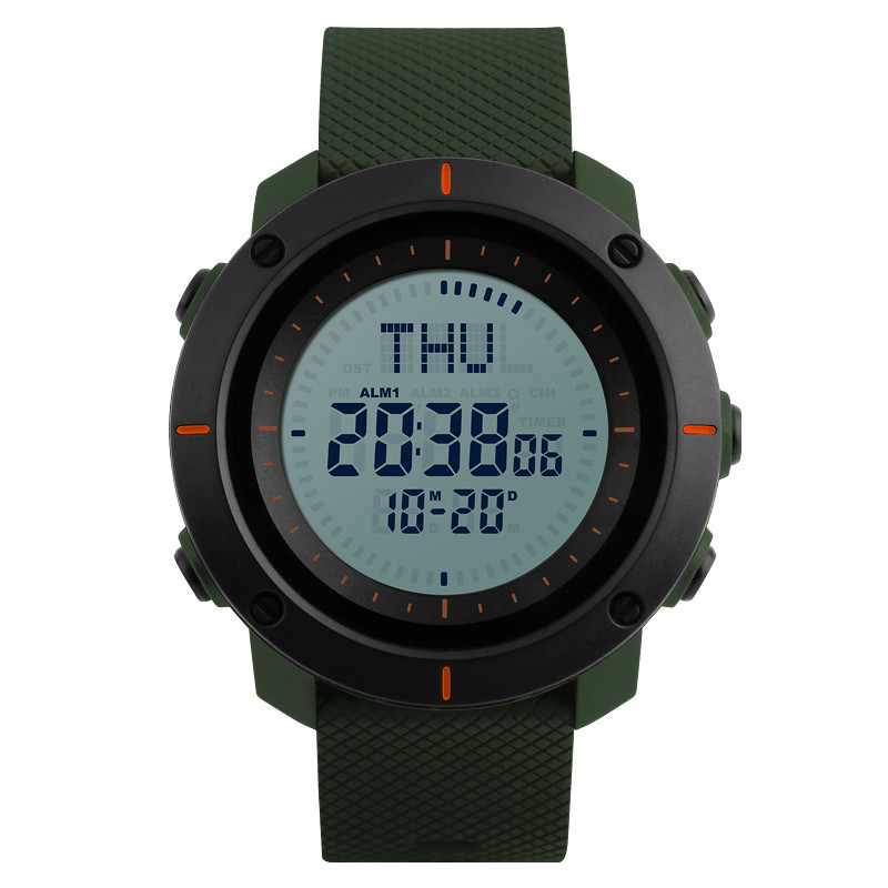Men  Sports Watches Compass Watch 3 Alarm Repeater Chronograph Back Light 50M Waterproof Digital Wristwatches 1216Men  Sports Watches Compass Watch 3 Alarm Repeater Chronograph Back Light 50M Waterproof Digital Wristwatches 1216