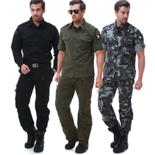 Military style US air force 101st airborne division eagle suit for men shirt and pant set with a belt 3 color