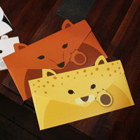 20pcs Lot Creative Vintage Animal Design DIY Multifunction Kraft Paper Tag Letter Envelope Free Shipping