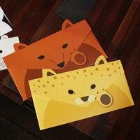 20pcs Lot Creative Vintage Animal Design DIY Multifunction Kraft Paper Tag Letter Envelope Free Shipping