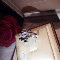 2017 Hot Marka 925 Srebrny Pierścień Dla Kobiet Biżuterii Pierścień Węża Kobiet Nieskończoność Bijoux Serpenti Włochy Jakości Koktajl
