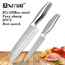 XITUO beste übereinstimmung Messer set Dienstprogramm Santoku messer edelstahl küchenchef obstmesser schälmesser cleaver küche werkzeuge