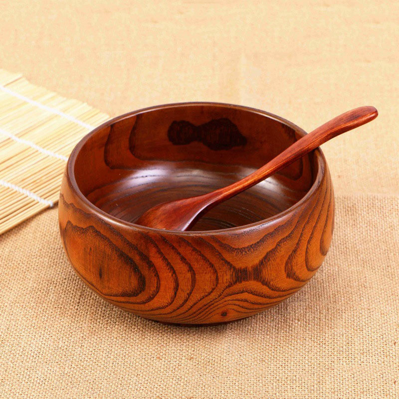 High Quality Camphor Wood Soup Bowl Fashion New Natural Healthy Wooden Rice Bowl Food Fruit Dish