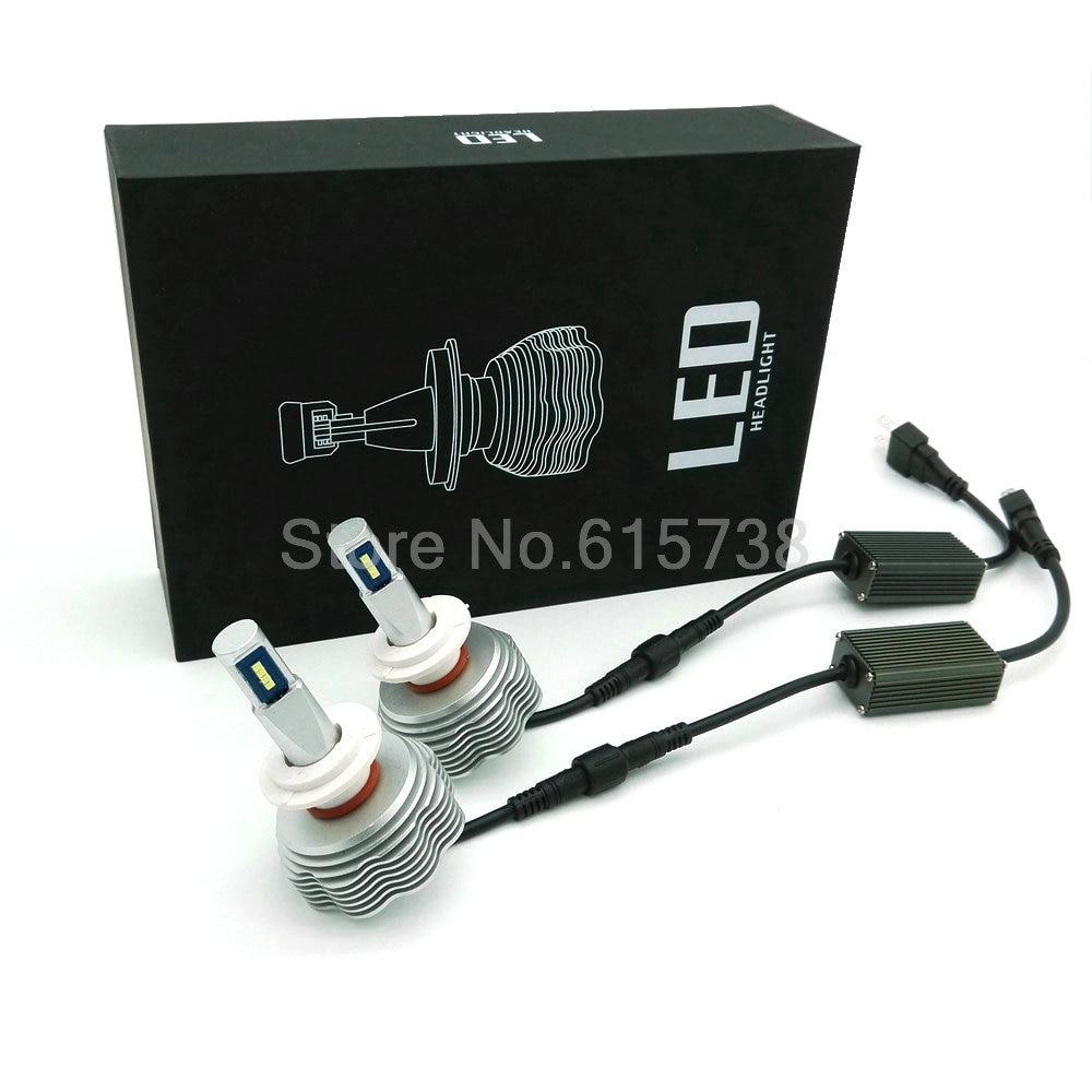 ФОТО FLIP CHIP H1 H3 9005 9006 H8 H9 H11 H4 H7 LED Car Headlight 80W 7200LM LED Headlight Kit bulbs headlamp