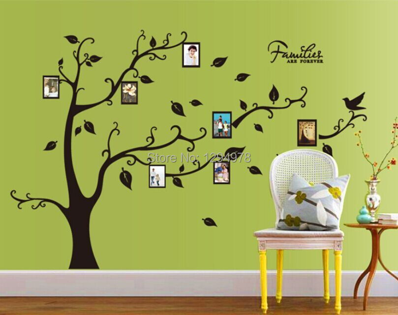 1 set High Quality DIY Black Wall Decal Sticker Removable Photo ...