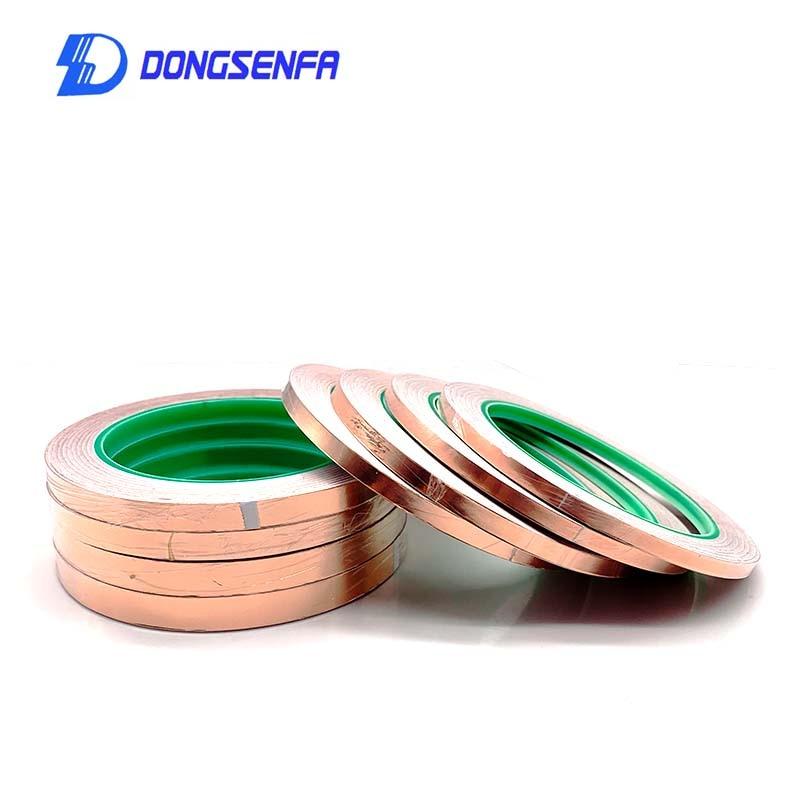 DONGSENFA 20M cinta de lámina de cobre de doble guía, cinta adhesiva conductora de cobre puro, cinta protectora, estaño de soldadura de pegamento de un solo lado Máscara de Gas de aerosol de pintura de doble uso igual para 3M 6800 máscara de cara completa pieza respirador industrial