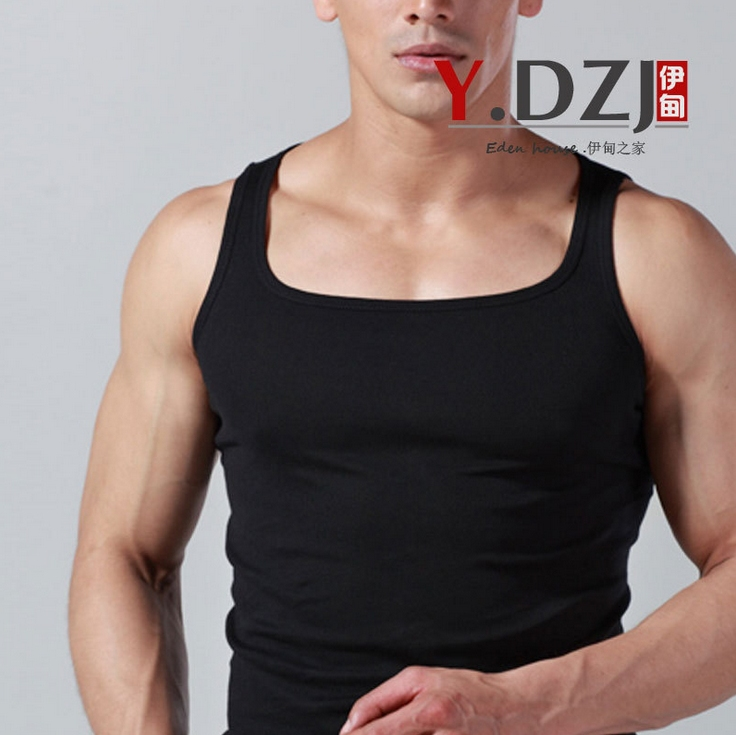 30d680826c76 3PCS/lot Men's cotton Square Cut gym Tank Top.Comfort Soft A Shirts Slim  look.Undershirt base tanks Underwear.Men fitness vest-in Tank Tops from  Men's ...